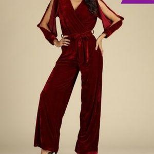 NWT Red Velvet Jumpsuit